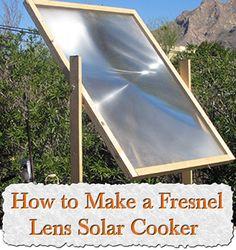 How To Make A Fresnel Lens Solar Cooker