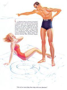 "George Petty, ""Jantzen Swimming Suit"" ad, 1936 by revista_antiga, via Flickr"
