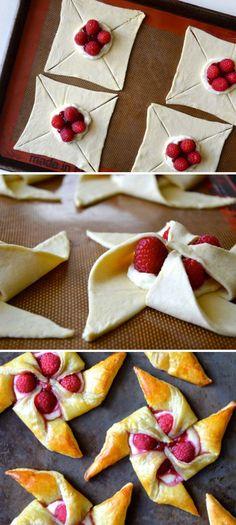 Raspberry Cream Cheese Pastries
