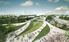london, heneghan peng, parks, olympic games, bridges, olymp park, central park, park bridg, peng architect