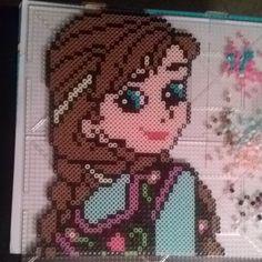 Princess Anna - Frozen perler beads by bamallette - Pattern: http://www.pinterest.com/pin/374291419003310348/