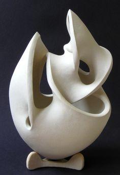 Pieter Mostert, white stoneware sculpture