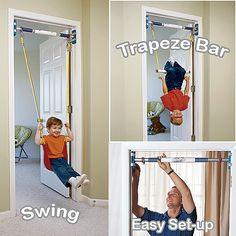 Rainy Day Indoor Swing Set, Doorway Swing, Indoor Trapeze Bar
