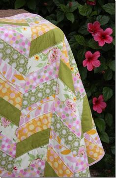 Quilt tutorial - it looks so easy and only 6 fat quarters!