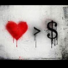 Love street art. Love graffiti. Love the message.