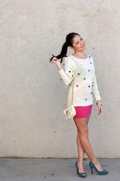 polka dot sweater polka dots, dot sweater