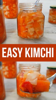 Easy kimchi recipe that's vegan and sugar free. Not a traditional kimchi recipe but made from just easy to source ingredients. #kimchi #healthyfood #healthyrecipe #veganrecipe