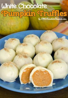 White Chocolate Pumpkin Truffles