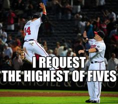 :)  ...But also posting this as a high five to the Mets tonight!!   :)