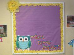 Owl jesus art board for Sunday school