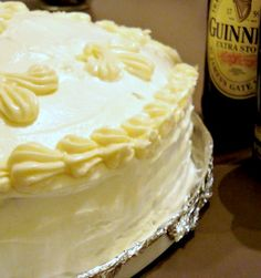 Chocolate Guiness Cake with Bailey's Buttercream Icing cake