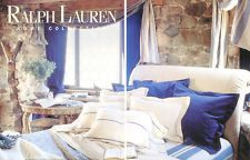 Ralph Lauren Home Archives, Unknown Collection (blue and white stripes), Bedroom, 1996