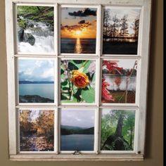 salvage window frame-repurposed