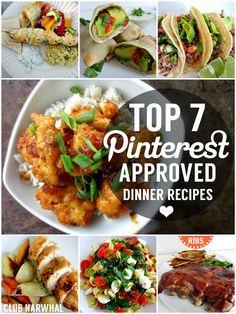 TOP 7 PINTEREST APPROVED DINNER RECIPES #dinner #recipes #easy #recipe
