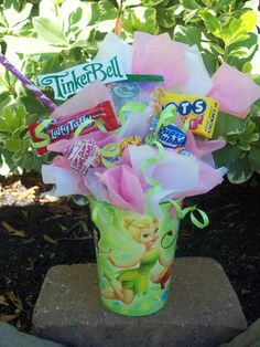 Tinkerbell Kids Candy Party Favors Made to by LynnsCandyCreations, $4.75