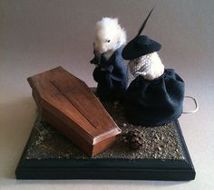 The Mourners Taxidermy Mouse and Hamster Funeral Scene