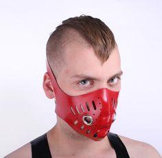 Red Latex Bike Mask - Regulation London mask