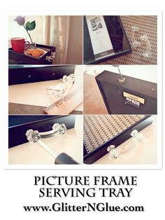DIY Decor: Picture Frame Serving Tray!