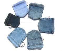 Denim Pockets Wallet with zipper