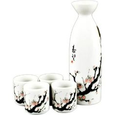 sake set, cherri blossom, blossom japanes, food pleasur, japanes sake, kitchen dining, home kitchens, cherries, cherry blossoms