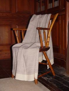 Merino wool blanket hand woven by Dianne Nordt by NordtFamilyFarm, $175.00