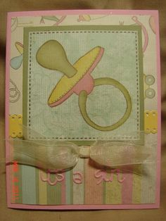 scrapebook card, shower idea, babi shower, pacifi card, baby showers, baby shower cards