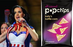 Katy Perry now has a personal flavor of Popchips. | 19 Celebrities With Inexplicable Food And Booze Brands