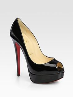 Classic Black Peep-toe... Can't live without the red Sole! ♥