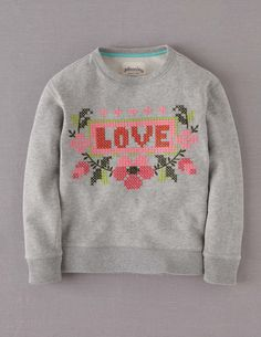 Embroidered Sweatshirt, a fun idea for a diy.