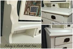 Want to makeover a piece of painted furniture and have a wood tone peek through...WITHOUT stripping? This post will help make the job easier!