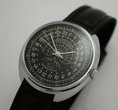 Raketa POLAR 24-hour mechanical watch (black). $49
