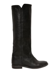 ISABEL MARANT ETOILE 70MM CHESS LEATHER BOOTS @wendelavandijk