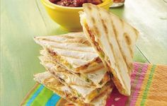 Quick Grilled Quesadilla Recipe get-on-my-grill-bbq-ideas quesadillas, tortilla, grill quesadilla, eat right, bacon, quick grill, snack, green onions, meal