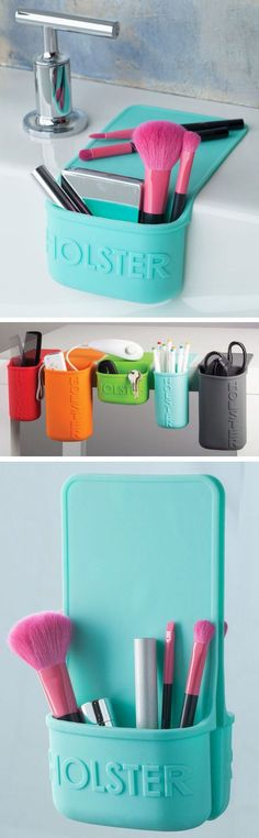Portable Silicone Holster that Clings to any Smooth Surface Removes Easily & Reusable. Endless Uses & Perfect for Travel.
