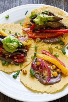 Juicy Veggie Fajitas by edibleperspective #Fajitas #Veggie #GF #Vegan