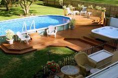 Stunning Deck Around a Pool