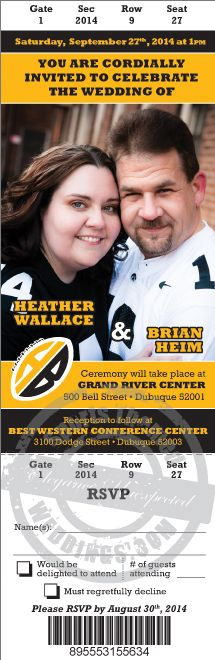 Pittsburgh Steeler fans love our graphics design team!  With unlimited revisions, you'll be thrilled with the products we produce at SportsThemedWeddings.com