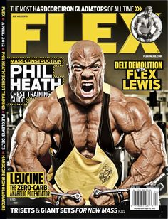 Flex Magazine cover April 2012 featuring Phil Health #fitness #bodybuilding #exercise