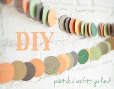 Oh Lovely Day®: {DIY} Paint Chip Confetti Garland Tutorial