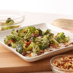 This salad is a family favorite -- perfect for picnics, potlucks, backyard barbecues and even holiday meals. Broccoli Salad