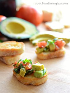 Avocado Bruschetta a