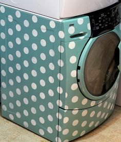 tuto: How to paint a washing machine! ::  so cute!!