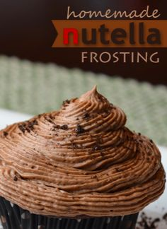 Repinned: This is a delicious Nutella Frosting Recipe.