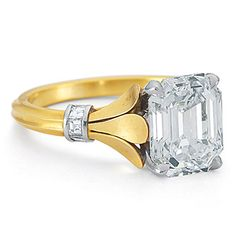 Gold and diamond engagement ring by McTeigue & McClelland