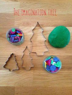 Christmas tree decorating invitation to play