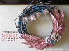 Simply Living : scrapbook paper fall wreath