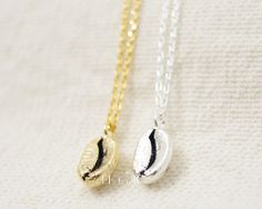 Gold/ Silver Coffee Bean Necklace by bkandjio on Etsy  OMG. MUST have.