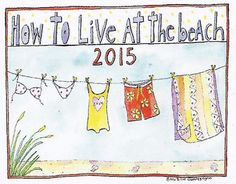 How To Live at the Beach 2015 Calendar