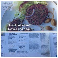 Lentil Patties with  Lettuce and Yogurt  (Martha Stewart Living:May 2013)