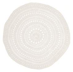 White round hand crochet Floor rug – Shelter 7